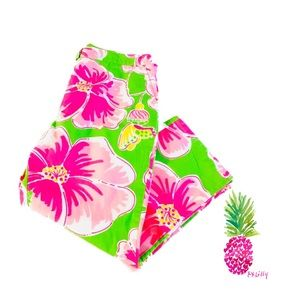 Lilly Pulitzer Girls Green Pink Capris Pants
